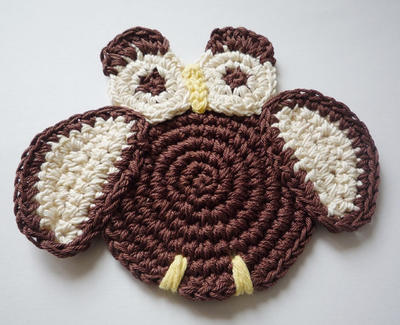 Crochet Owl Pattern - Coaster