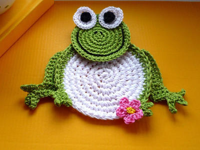 Crochet Pattern - Frog coaster