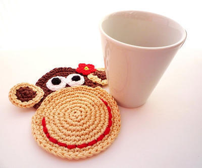 Crochet Pattern - Monkey Coasters