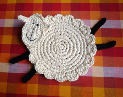 Crochet Sheep Coasters Pattern