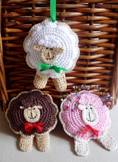 Crochet Sheep Ornament