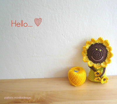 Crochet Sunflower Doll Pattern