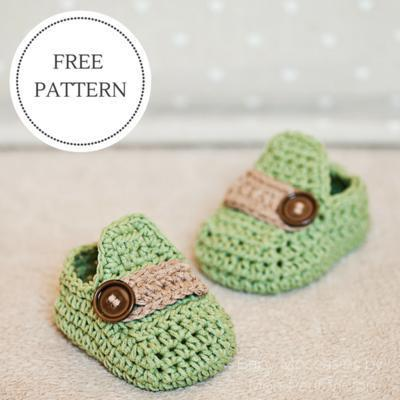 Baby Moccasins - crochet baby booties