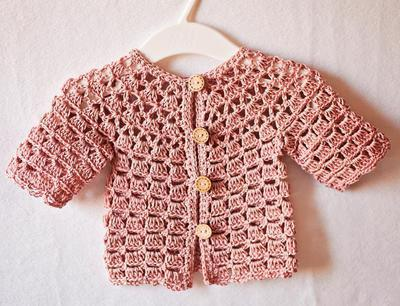 Crochet Baby Lace Cardigan