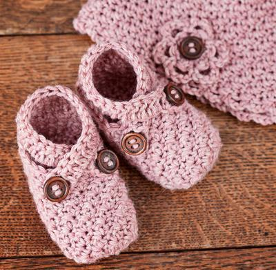 Crochet Baby Shoe and Hat set