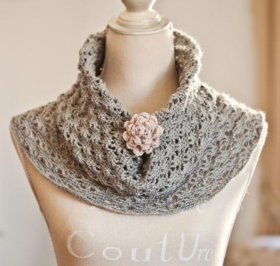 Crochet Lace Cowl