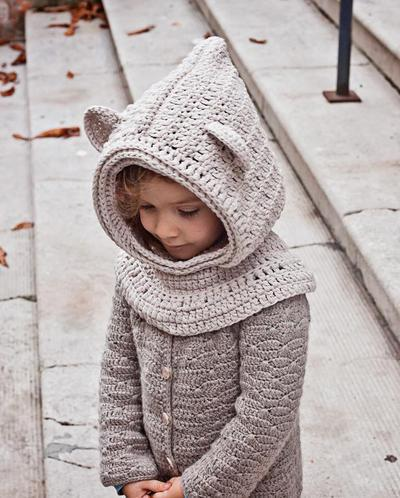 Polar Bear Hooded Cowl
