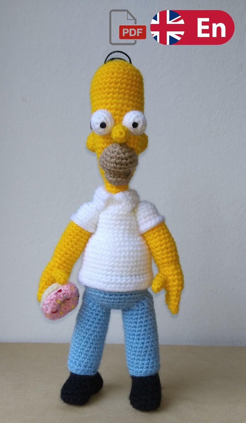 Homer Simpson - The Simpsons - Crochet Amigurumi Pattern