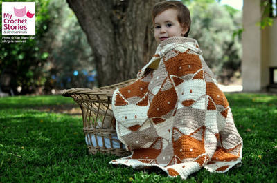 Baby Crochet Fox Blanket Pattern