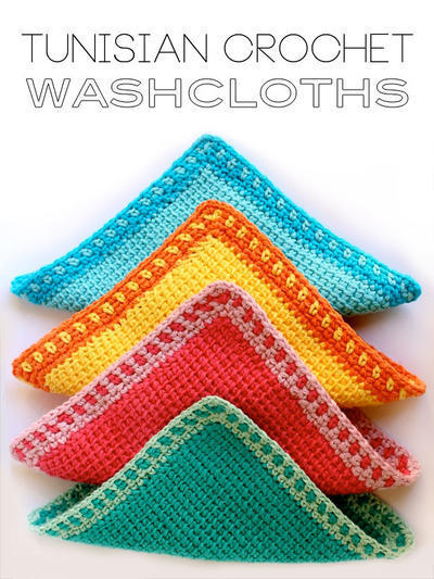 Tunisian Crochet Washcloths