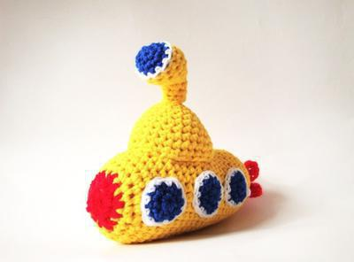 Yellow Submarine Baby Crochet Amigurumi Pattern