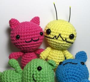 Alien Hominid, Chibi Kawaii Cat, Bunny and Bear Amigurumi Patterns