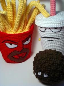 Aqua Teen Hunger Force (Aqua Unit Patrol Squad 1) Amigurumi Playset Pattern