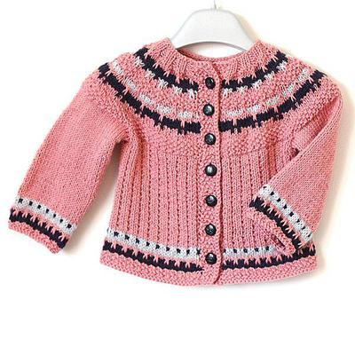 Baby Cardigan Color Work