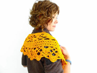 Yarn Kit - Crochet Pattern - Shawl - Swagger - One Size