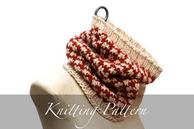 Knitting Pattern: Checked Cowl