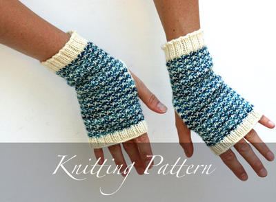 Knitting Pattern: Glacia Mitts