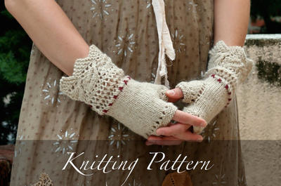 Knitting Pattern: Prairie Lace Mitts