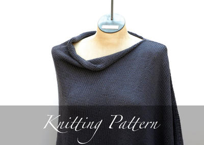 Knitting Pattern: Seaside Poncho