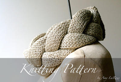 Knitting Pattern: The Plait Scarf