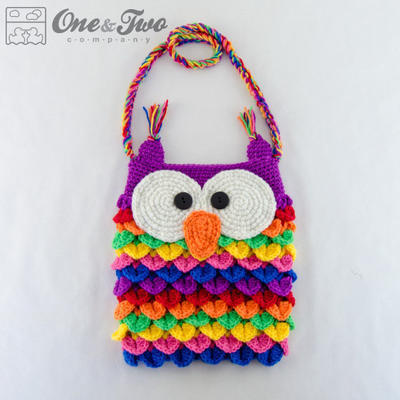 Colorful Owl Purse