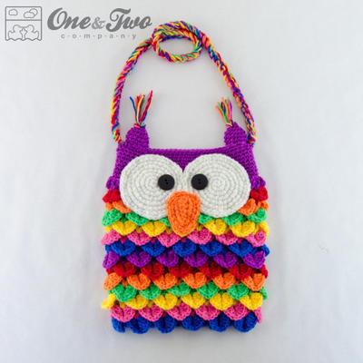 Colorful Owl Purse