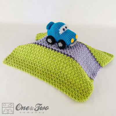 Racing Car Lovely / Security Blanket