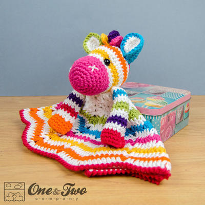 Rainbow Zebra Lovely / Security Blanket