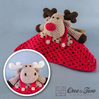 Reindeer and Moose Lovely / Security Blanket