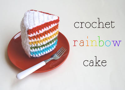 Crochet Rainbow Cake Pattern