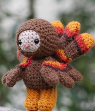 Chester the turkey boy amigurumi doll