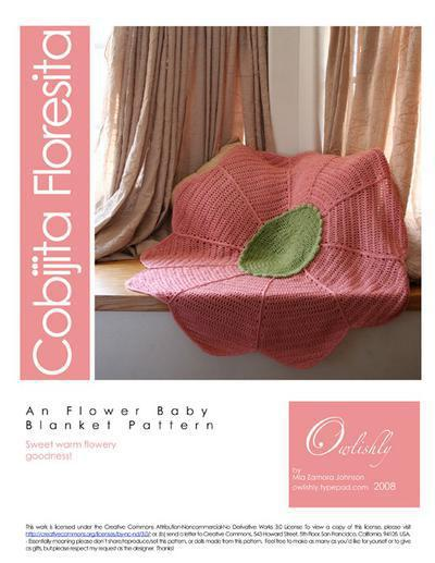 Cobijita Floresita flower baby blanket