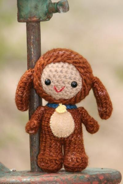 Crochet Pattern- Pete, an amigurumi little puppy boy doll