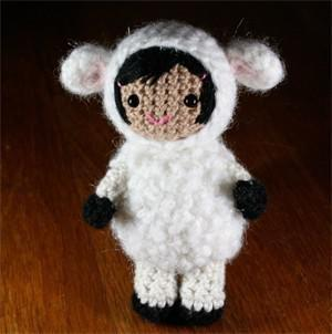 Lana the lamb amigurumi doll