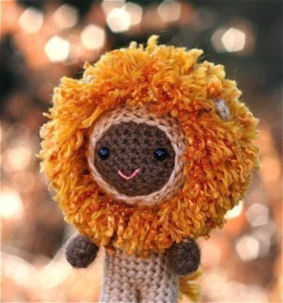 Marcus the lion boy amigurumi doll