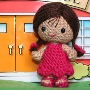 Nichole the little girl amigurumi doll
