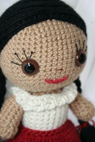 Sarita Amigurumi Mexican Doll