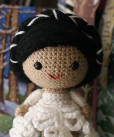 Zoe Snow Flake amigurumi doll