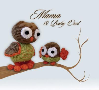 Amigurumi Crochet Pattern - Mama and Baby Owl