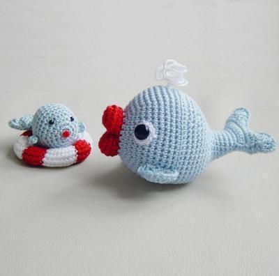 Amigurumi Crochet Pattern - Whales Set