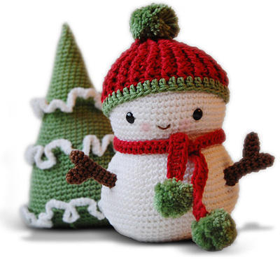 Amigurumi Pattern - Frosty the Snowman and Christmas Tree