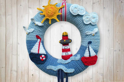 Crochet Maritime Wreath
