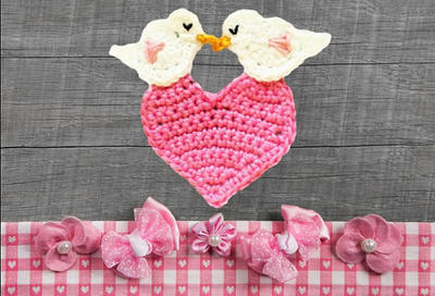 Heart Crochet Appliqué Pattern