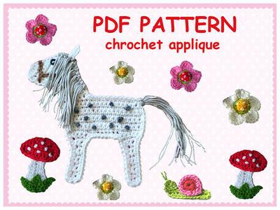 Pattern Chrochet Horse Appliques