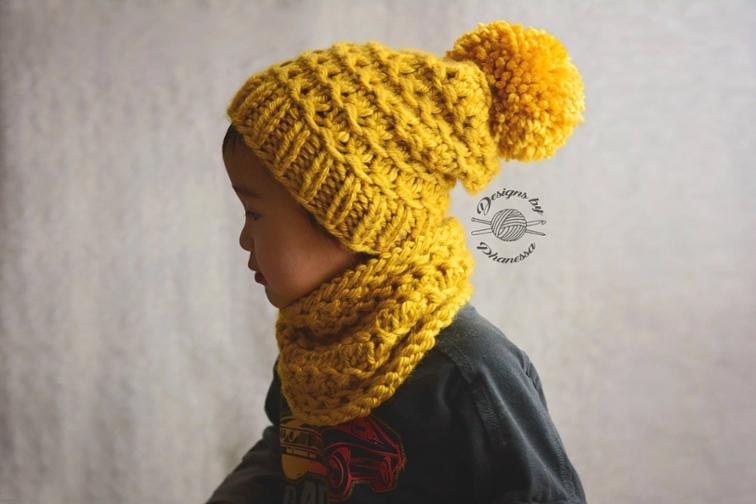 Belle Slouch Beanie & Cowl