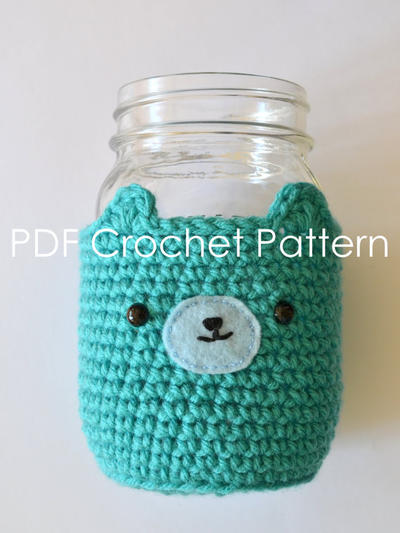 Bear Mason Jar Cosy Crochet Pattern