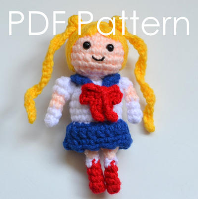 Sailor Moon Amigurumi Crochet PDF Pattern