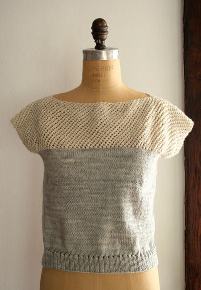 Cap Sleeve Lattice Top