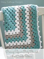 Granny Square Baby Blanket by Lauren Brown