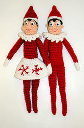 Holiday Shelf Elf Crochet Doll